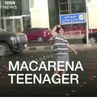 "This 14-year-old's Macarena moves on a street in Saudi Arabia went viral. Then he was arrested. Since this video was made, he's been released after signing a pledge that he would ""not engage in behaviour that could endanger his life and the life of others again"". macarena dance pop saudiarabia: BBC  NEWS  39  AMasta  Prince Maam  MACARENA  TEENAGER This 14-year-old's Macarena moves on a street in Saudi Arabia went viral. Then he was arrested. Since this video was made, he's been released after signing a pledge that he would ""not engage in behaviour that could endanger his life and the life of others again"". macarena dance pop saudiarabia"