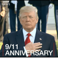 President Trump has presided over his first 9-11 commemoration in office, marking the 16th anniversary of the attacks. He and first lady Melania observed a moment of silence at the White House and later at the Pentagon. Nearly 3,000 people died after hijackers crashed planes into New York's World Trade Center, the Pentagon and a rural Pennsylvania field in 2001. september11 911 neverforget wtc nyc pentagon shanksville trump: BBC  NEWS  ANNIVERSARY President Trump has presided over his first 9-11 commemoration in office, marking the 16th anniversary of the attacks. He and first lady Melania observed a moment of silence at the White House and later at the Pentagon. Nearly 3,000 people died after hijackers crashed planes into New York's World Trade Center, the Pentagon and a rural Pennsylvania field in 2001. september11 911 neverforget wtc nyc pentagon shanksville trump