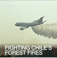 Memes, Bbc News, and Brazil: BBC  NEWS  FIGHTING CHILES  FOREST FIRES 1 FEB: Huge supertanker planes from the US, Russia and Brazil have been deployed to fight forest fires in Chile. Find out more: bbc.in-chilefires Fire Wildfires Chile BBCShorts BBCNews @BBCNews