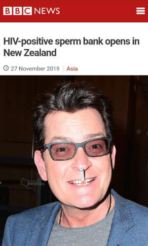 G'day mate.: BBC NEWS  HIV-positive sperm bank opens in  New Zealand  O 27 November 2019  Asia  JAMESTOWN G'day mate.