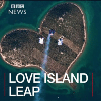 Memes, Bbc News, and Croatia: BBC  NEWS  LOVE ISLAND  LEAP FEB 14: Have these three skydivers found the perfect place to fall in love in the heart of Croatia? For more romance: bbc.in-valentine Love Romance Travel Galesnjak Croatia Valentine ValentinesDay StValentinesDay BBCShorts BBCNews @BBCNews