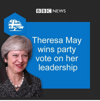 UK PM Theresa May wins confidence vote with 200 out of 317 Tory MPs supporting her to stay on as leader. Tap the link 👆 in bio for more. UK UnitedKingdom TheresaMay ConservativeParty politics Brexit bbcnews: BBC NEWS  Theresa May  wins party  vote on her  leadership UK PM Theresa May wins confidence vote with 200 out of 317 Tory MPs supporting her to stay on as leader. Tap the link 👆 in bio for more. UK UnitedKingdom TheresaMay ConservativeParty politics Brexit bbcnews