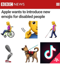 Apple, Emojis, and Dank Memes: BBCNEWS  Apple wants to introduce new  emojis for disabled people  小