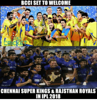 Two of the biggest teams with largest fan base are set to return in IPL18. MSD is reportedly not to go under the hammer in auctions of 2018 & return to CSK as captain :D  <aVAn>: BCCI SET TO WELCOME  CHENNAI SUPER KINGS & RAJSTHAN ROYALS  IN IPL 2018 Two of the biggest teams with largest fan base are set to return in IPL18. MSD is reportedly not to go under the hammer in auctions of 2018 & return to CSK as captain :D  <aVAn>