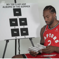 Life, Memes, and Kawhi Leonard: BD  MY TOP 5 HIP-HOP  ALBUMS OF THE SUMMER  2  Sun Life  PTO  4 Kawhi Leonard picks his Top 5 Hip-Hop Albums of the Summer...then laughs...while maintaining a serious look on his face.  (Via @bardown)    https://t.co/M2nG2oGDkI