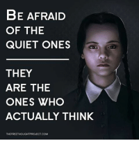 Memes, Information, and Quiet: BE AFRAID  OF THE  QUIET ONES  THEY  ARE THE  ONES WHO  ACTUALLY THINK  THEFREETHOUGHTPROJECT COM 💭 Have you ever noticed that the loudest mouths say some of the dumbest things?!? 💭🤔🤔🤔💭 Join Us: @TheFreeThoughtProject 💭 TheFreeThoughtProject 💭 LIKE our Facebook page & Visit our website for more News and Information. Link in Bio.... 💭 www.TheFreeThoughtProject.com
