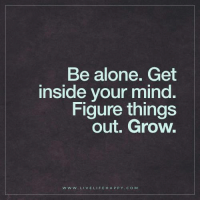 Deep Life Quotes: Be alone. Get inside your mind. Figure things out. Grow.: Be alone. Get  inside your mind.  Figure things  out. Grow.  w w w. LIVE LIFE HA p P Y COM Deep Life Quotes: Be alone. Get inside your mind. Figure things out. Grow.
