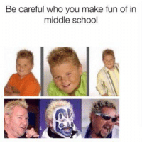 Future, Memes, and School: Be careful who you make fun of in  middle school #memes The future is now https://t.co/qZtBOKbEqJ https://t.co/k0uDXkWNmr
