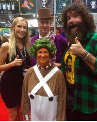 "#OompaLoompa - what a great day at #NYCC. See you tomorrow from 11-4. Do you know former #ROH champion #JayLethal knows every word to ""Willie Wonka and the Chocolate Factory""? It's amazing! I think I will give that movie a viewing for Foley family movie night when I get home - a great way to remember the talents of Gene Wilder.: BE DIFFERbN  70  60 #OompaLoompa - what a great day at #NYCC. See you tomorrow from 11-4. Do you know former #ROH champion #JayLethal knows every word to ""Willie Wonka and the Chocolate Factory""? It's amazing! I think I will give that movie a viewing for Foley family movie night when I get home - a great way to remember the talents of Gene Wilder."