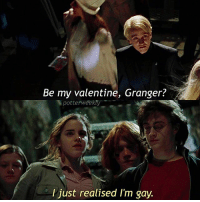Bad, Birthday, and Club: Be my valentine, Granger?  potterweekty  I just realised I'm gay. ✎✐✎ ↯ ⇢ Lol oops sorry Dramione shippers ↯ ⇢ I'm suddenly got so much on after school now because of the drama club and production ahah :') I kinda feel good about it bc I've actually got stuff to do now ↯ ⇢ Please go follow the tagged account! They're featured for the week and use some pretty neat filters for their scene edits :) ✎✐✎ Birthday(s) Of The Day 👇🏼🎂🎉 ⇢ Wish Dua a very happy birthday in the comments please! ✎✐✎ My Other Accounts: ⇢ @TheWizardWeekly - [ account for blended-video-aesthetic edits ] ⇢ @MarvelsWomen - [ co-owned Marvel account ] ⇢ @HPTexts - [ co-owned Harry Potter text messages account ] ⇢ @LumosTutorials - [ co-owned instagram tutorial account ] ✎✐✎ QOTD : Your 3rd recent emoji is your boggart, what is it? AOTD : 😅 - afraid of disappointment? Lol too bad I am one