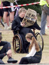 Maggie Smith behind the scenes, being super badass as she did chemo while still filming.: BE NAMED Maggie Smith behind the scenes, being super badass as she did chemo while still filming.