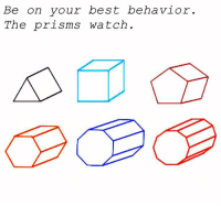 Best, Watch, and Behave: Be on your best behavior  The prisms watch. Behave. https://t.co/f1CJD4Pv7y