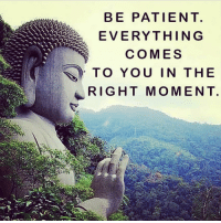 Beautiful, Love, and Memes: BE PATIENT.  EVERYTHING  COMES  TO YOU IN THE  RIGHT MOMENT. Be patient. Everything will come to you at the right time. ⇒Love ❤️, flow 💬, serve ✨⇐ Via @awake_spiritual . . . . . . . meditation oneness innerpeace lawofattraction blessings love inspire wisdom spiritual yogi yoga flow oneness amazing beauty earth lovequotes quotes quotestoliveby beautiful compassion spiritualawakening enlightenment