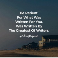 "Memes, Struggle, and Boost: Be Patient.  For What Was  Written For You,  Was Written By  The Greatest Of Writers.  gardeurofthepious When being tested by Allah, remember to remain patient and persistent with Jannah as a motivation to struggle and strive through the hardships of life without losing your faith in Al Khabir (The All Aware). - Whenever you find yourself facing a trial, keep in mind that you as a believer are rewarded or recompensed at the same time if handled correctly. And remember that the solution to all the problems in this life is to reduce your sins, to repent and to increase your good deeds. When in need of a morale boost start with Dhikr of Allah, and reading the Qur'an. - ""Verily, We sent (Messengers) to many nations before you. And We seized them with extreme poverty (or loss in wealth) and loss in health (with calamities) so that they might humble themselves (believe with humility)."" (Quran, 6:42) - It is an established fact in the Quran, that one of the ways Allah assesses the faith of believers is by taking away their health and their wealth, but as seen in the humbling verse above, if a believer passes whatever the test is, his faith will be reinforced and more stronger than it was initially. - Allah will test your faith throughout your life using your health, your wealth, or even your loved ones. Be prepared to be tested, be patient when torn and momentarily broken, and keep in mind that everything in this life is either temporary or occurs in cycles according to Allah's decree. Furthermore take life to be a roller coaster, meaning - if you are at the bottom today, as someone patient with firm faith in Allah, you're already on your way up In Shaa Allah. ForeverTemporary @gardenofthepious - ""Indeed, the righteous will be within gardens and springs. Having been told, 'Enter it in peace, safe and secure.' And We will remove whatever is in their breasts of resentment, so they will be brothers, on thrones facing each other. No fatigue will touch them therein, nor from it will they ever be removed. [O Muhammad], inform My servants that it is I who am the Forgiving, the Merciful."" (Quran, 15:45-49)"