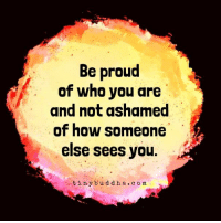Be proud of who you are...: Be proud  of who you are  and not ashamed  of how someone  else sees you  tiny b u d d h a c o m Be proud of who you are...