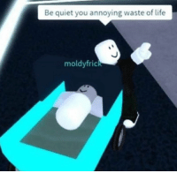 Life, Quiet, and Annoying: Be quiet you annoying waste of life  moldyfrick