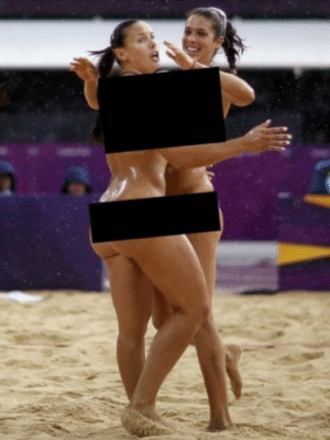 Beach volleyball is just a couple of lines away from being a censored girls gone wild video.: Beach volleyball is just a couple of lines away from being a censored girls gone wild video.