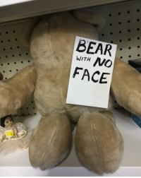 Bear, Face, and With: BEAR  WITH  FACE