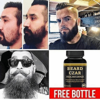 The best beard growth products and Daily beard tips! @beardsczar is the only page that helps you grow your beard! Follow @beardsczar and claim your free products in their bio! I've used my Man Card to get a few discounts on their other products! @beardszar actually filled my beard in🙏😎: BEARD  CZAR  FACUAL HAIR COMPLEX  FREE BOTTLE The best beard growth products and Daily beard tips! @beardsczar is the only page that helps you grow your beard! Follow @beardsczar and claim your free products in their bio! I've used my Man Card to get a few discounts on their other products! @beardszar actually filled my beard in🙏😎