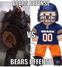 BEARS DEFENSE  BEARS  US OO  BEARS OFFENSE Seems like the Bears Defense showed up ready to play but that offense took the day off  #NewReliable