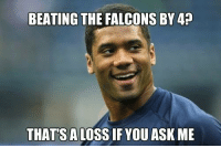 Fantasy Football, Football, and Nfl: BEATING THE FALCONS BY 4  THATS ALO  YOU ASK ME #Seahawks QB Russell Wilson has a message for the #Saints...