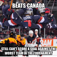 America, Logic, and Memes: BEATS CANADA  26  OSHIE  ref logic  STILL CANT SCORE AGOALAGAINSTTHE  WORSTTEAMINTHETOURNAMENT WTF USA?? Is it time to root for Team North America? 😪 - wcoh nhl usahockey