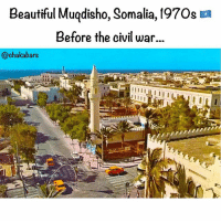 Beautiful, Memes, and Politics: Beautiful Muqdisho, Somalia, 197Os a  Before the civil war  @chakabars A brief history Over the past two decades the nature of the Somali crisis and the international context within which it is occurring have been constantly changing. It has mutated from a civil war in the 1980s, through state collapse, clan factionalism and warlordism in the 1990s, to a globalised ideological conflict in the first decade of the new millennium. In this time the international environment has also changed, from the end of the Cold War to the 'global war on terror', which impacts directly on the crisis and international responses to it. This poses a problem for Somalis and international actors working to build peace. Initiatives that may have appeared to offer a solution in earlier years may no longer be applicable and there is a risk of fighting yesterday's war or building yesterday's peace. This article traces the evolution of the Somali conflict and some of the continuities that run through it. From Cold War to civil war 1988-91 The collapse of the Somali state was the consequence of a combination of internal and external factors. Externally there were the legacies of European colonialism that divided the Somali people into five states, the impact of Cold War politics in shoring up a predatory state, and the cumulative effect of wars with neighbouring states, most damagingly the 1977-78 Ogaden war with Ethiopia. Internally, there were contradictions between a centralised state authority, and a fractious kinship system and the Somali pastoral culture in which power is diffused. Next came the Somali National Movement (SNM) formed in 1982 that drew its support from the Isaaq clan. The SNM insurgency escalated into a full-scale civil war in 1988 when it attacked government garrisons in Burco and Hargeisa. The government responded with a ferocious assault on the Isaaq clan, killing some 50,000 people and forcing 650,000 to flee to Ethiopia and Djibouti. Somalia's collapse was hastened by the ending of the Cold War. As Somalia's strategic importance to the West declined, the foreign aid that had sustained the state was withdrawn. More below 👇🏿😢❤️🇸🇴 Chakabars
