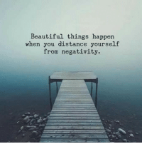 Beautiful, Crazy, and Memes: Beautiful things happen.  when you distance yourself  from negativity. Things don't just happen in this world of arising and passing away. We don't live in some kind of crazy, accidental universe. Things happen according to certain laws, laws of nature. Laws such as the law of karma, which teaches us that as a certain seed gets planted, so will that fruit be. -Sharon Salzberg . Inspired by my friend Tim @dearhustler . The only way to win against a toxic person is to not play 🙏 . markiron