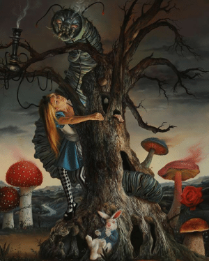 "beautifulbizarremagazine:Welcome to Wonderland. Fantastic painting, ""Alice and the Poison Mushrooms"" by @davidbowersofficial.⁣ .⁣ .⁣ .⁣         posted on Instagram - https://ift.tt/3070f0R: beautifulbizarremagazine:Welcome to Wonderland. Fantastic painting, ""Alice and the Poison Mushrooms"" by @davidbowersofficial.⁣ .⁣ .⁣ .⁣         posted on Instagram - https://ift.tt/3070f0R"