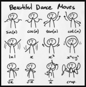 Dank, Meme, and Memes: Beautisul Dance Moves  |  T  Los)  cot x)  tanlx)  Sin)  7  crap.  -lx An ancient math meme appeared by Soumyapaul MORE MEMES