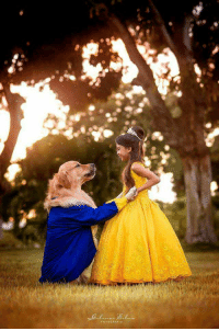 Beauty and the beast ft. Doggo and daughter: Beauty and the beast ft. Doggo and daughter