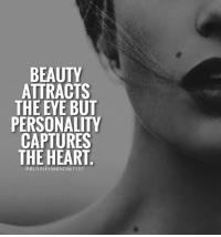 🙌Tag someone beautiful inside and out.👇: BEAUTY  ATTRACTS  THE EYE BUT  PERSONALITY  CAPTURES  THE HEART  @BUSINESSMINDSET101 🙌Tag someone beautiful inside and out.👇