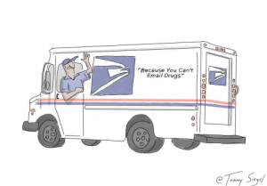 """Drugs, Email, and You: Because You Can't  Email Drugs""""  0 the USPS rebrands to keep up [OC]"""