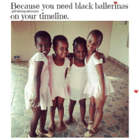 Memes, 🤖, and Rwanda: Because you need black ballerinas  @theblaquelioness  on your timeline. Tiny dancers in Rwanda ❤ theblaquelioness