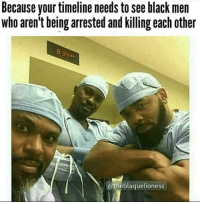 This one, chief: Because your timeline needs to see black men  who aren't being arrested and killing each other  @theblaquelioness This one, chief