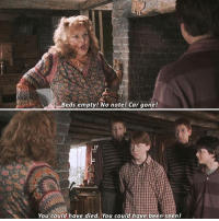 Favourite Weasley?: Beds empty! No note! Car gone!  You could have died. You could have been seen! Favourite Weasley?
