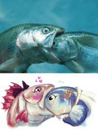 Target, Tumblr, and Blog: bedupolker:  NEW OTP CHALLENGEit started out as a kiss how did it end up like this