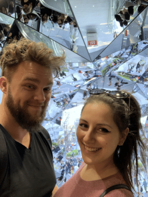 We met at the start of 2018 purely for a one night stand. We started talking and then love happened. Here we are in Japan and we about to move in together. Thanks tinder!: BEE  XAT We met at the start of 2018 purely for a one night stand. We started talking and then love happened. Here we are in Japan and we about to move in together. Thanks tinder!