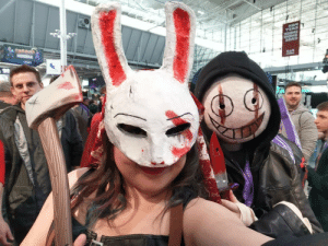 Best, Cosplay, and Old: Been a bit down lately so I just thought to share my old photo of my Huntress cosplay at Pax East! Not the best mask but I tried :D I got a photo with a Legion!