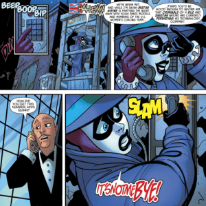 funnypages:  Alfred is just glad this isn't another of Two Face's drunken callsHarley Loves Joker #2: BEEP  WE'VE NEVAH MET  AND WHILE I'M SHUAH MISTAH  ...P'RAPS YOU'D BE  BOOR  WAYNEIS PAHTYING THE NICHT GOODENUHTO INFORM HIM  AWAY WITH YOGA PANTS MODELS THAT CRIMINALS OF A VILE AND  AND MEMBAHS OF THE U.S.  WOMEN'S CURLING TEAM..  SINISTAH NATURE ARE CURRENTLY  PERVADING HIS TECHNAWLOGY  COMPANY  HOW DID  YOU GET THIS  NUMBER, MISS  QUINN? funnypages:  Alfred is just glad this isn't another of Two Face's drunken callsHarley Loves Joker #2