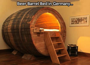 Beer, Tumblr, and Blog: Beer Barrel Bed in Germany srsfunny:Only In Deutschland