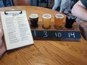 """Beer, BlackBerry, and Drinking: BEER  ON TAP  1. COCOA FRAPPE (NITRO)  CHOCOLATE PORTER I ABV: 5.8  9.BLACKBERRY RIVER ALE  Smooth marriage of rich cocoa and  FRUIT ALE ABV: 5.5  roasty malt. It's oh so yummy on nitro.  $6.50 PINT I $5 GLA88 10oz  A refreshing, dark purple beer brewed  with blackberries and raspberries  $6.50 PINT I$5 GLASS 10oz  3. LAZY HAZY HOUSY  10 BLUE DEVIL's BLONDE  BLONDE ALE ABV: 5.1  NEW ENGLAND IPA ABV: 7.1  El Dorado, Citra, Mosaic, and Mandarina.  A deep gold ale light on bitterness and long  on drinkability  $6.50 PINT $5 GLASS 100z  $7 PINT I $5.50 GLASS 10oz  4. HILL COUNTRY HEFE  HEFEWEIZEN I ABV: 5.6  11.CANAAN MOUNTAIN LAGER  Wheat ale brewed in classic Bavarian style.  AMERICAN STYLE LAGER ABV: 4.6  $6.50 PINT I $5 GLAS8 10oz  American Pale Lager. Brewed with pilsner  malt, flaked brown rice, and Crystal hops.  $6 PINT $4.50 GLASS 100z  5. LONG WHITE CLOUD IPA  HAZY IPA ABV 7  12.LIME ROCK PARK LAGER  AMERICAN STYLE LAGER ABV: 4.8  A slick and gold American Lager, brewed  with Pilsner Malt and Crystal hops. This  Pacific Jade and Waimea hops.  $7.00 PINT I $5.50 GLASS 10oz  6. STRAWBERRY BASIL  """"cruising beer"""" was designed to be enjoyed  in the infield, outfield, and winners circle  $6 PINT $4.50 GLASS 10oz  LIMEADE GOSE  I 3 10 1  GOSE ABV: 5.7  Tart and refreshing summer beer.  13. HOUSACHRONIC  $6.50 GLASS 10oz  IIPA ABV: 9  Super hazy juice BOMBI Our Triple IPA  project is always fresh and always changing  $7.50 GLASS 10oz  7. HEAVY ROTATION  HAZY PALE ALE IABV: 5  Single hop Ella Hazy Pale Ale  $6.50 PINT I $5 GLASS 10oz  14. UNDERMOUNTAIN  BLACK LAGER I ABV: 5.3  8. CASCADIA FAREWELL  WEST COAST IPA   ABV: 6.1  Punchy and bright with Citra Cryo, Mosaic  and Connecticut grown Cascade hops  A crisp and roasty traditional German  Schwarzbier.  4  $6.50 PINT I $5 GLASS 10oz  $7.00 PINT $5.50 GLASS 10oz  T Oh boy here I go drinking again!"""