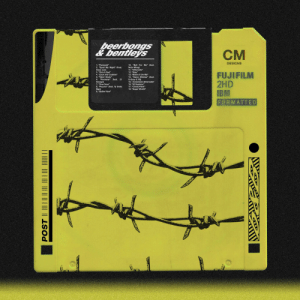 """Post Malone Beerbongs & Bentleys as a floppy disk: beerbongs  &bentleys  CM  DESIGNS  10. """"Ball For Me"""" (feat.  Nicki Minaj)  11. """"Otherside""""  12. """"Stay""""  13. """"Blame It On Me""""  1. """"Paranoid""""  2. """"Spoil My Night"""" (Feat.  Swae Lee)  3. """"Rich & Sad""""  FUJIFILM  2HD  IBM  FORMATTED  4. """"Zack and Codeine""""  5. """"Takin' Shots""""  6. """"Rockstar"""" (feat. 21  Savage)  14. """"Same Bitches"""" (feat.  G-Eazy & YG)  15. """"Jonestown (Interlude)""""  16. """"92 Explorer""""  17. """"Candy Paint""""  18. """"Sugar Wraith""""  7. """"Over Now""""  8. """"Psycho"""" (feat. Ty Dolla  $ign)  9. """"Better Now"""" Post Malone Beerbongs & Bentleys as a floppy disk"""