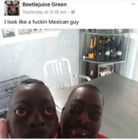 Beetlejuice Green Yesterday At 318 Am I Look Like A Fuckin Mexican Guy Post This Meme Lauren Meme On Me Me