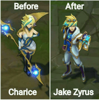 Nasa League of Legends pala si idol e! 😂😂😂: Before  After  Charice Jake Zvrus Nasa League of Legends pala si idol e! 😂😂😂