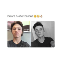 @hoeposts I need money for a haircut: before & after haircut  reat Clips @hoeposts I need money for a haircut