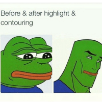 Before & after highlight &  contouring Fr fam. B*tches be transforming from a 0 to 💯 real quick (like ❤️ comment 👌 follow 👍 tag 👇)
