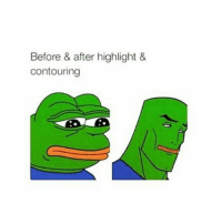 Before & after highlight &  contouring get me friend @ofleek to 71k 💃💃💃