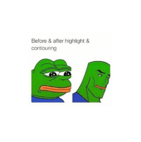 Before & after highlight &  contouring IDK HOW TO DO EITHER OF THOSE OOPS