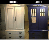Boxing, Memes, and Police: BEFORE  AFTER  POLICE BOX